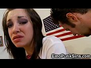 Picture Emo Coed Gets a Huge Facial