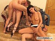 Deep-throat girls get DPed in rough foursome HC...