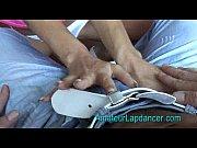 Skinny student lapdancing
