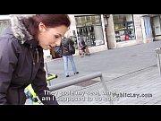 Public amateur babe banged private for cash