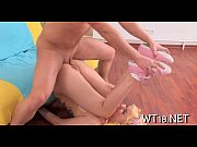 Мужик возбудился от массажа видео