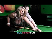 Picture Lovely BBW blonde takes it from behind on pool ta...