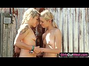 Girls Out West - Young lesbian blondies laneway...