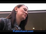 Picture PublicAgent Pretty brunette gets fucked in t...