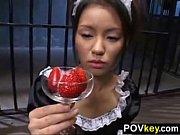 精飲メイド楓、イチゴミルクにアレを