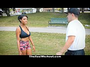 Picture TheRealWorkout - Curvy Ebony Rides White Cock Aft...