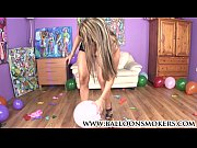 Picture Latin Young Girl 18+ sits on big balloons in...