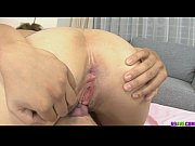Naughty babe in fishnet gagging and hard fucked