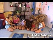 Amazing lesbian orgy in the bedroom