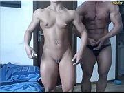 Picture Gorgeous couple of bodybuilders on web-cam /...