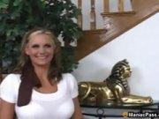 Видео секс с блондинками в колготках в черных