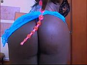 black girl add a clot saliva between her tits