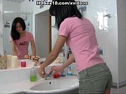 hard fucked ass elastic with brunette Young