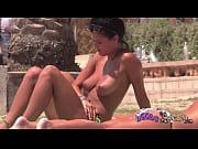 Boobfest on the Topless Beach Big Brit Pierced ...