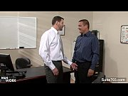 tattooed gays humping in the office – Porn Video