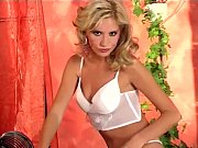 Sexy White Lingerie On This Petite Blonde Cutie