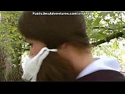 Picture Real funny girl goes for outdoor hard anal f...