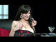 Angelina Leigh SMOKES a cigar