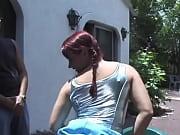 Парень трогает девушку за грудь