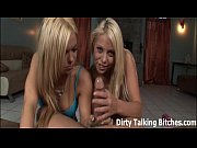POV double blowjob from two hot blondes