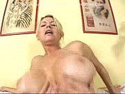 Big tits blonde gets so horny
