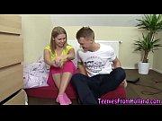 Hot teenager bent over