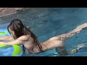 pool swimming the in outside masturbates teen Sexy