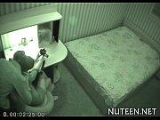 Катя подсматривает за дядей