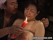 Picture Busty Japanese chick in hot wax BDSM action