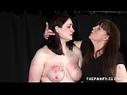 Alyss extreme lesbian bdsm and whipping to tear...