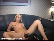 Montreal amateur blond fucked by a brutal dildo...