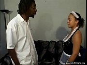Young Ebony Eats Monster Cock