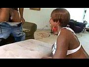 Ebony slut fucking her large butt