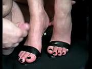 Sexy shoes footjob