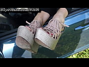 Picture Cumming on Sleepy Feet in Car 1080