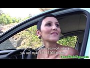 Shorthaired pulled euro babe outdoor banged
