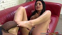 feet sexy her with bbc off jerks angelina Eva