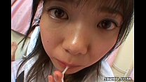 swallow and blowjob perfect a gives teen japanese Young