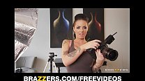 Stunning lingerie clad wife surprises her man w...