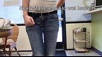 Star Nine wetting her panties & skintight jeans...