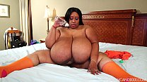 Super Busty Ebony BBW Cotton Candi XXX