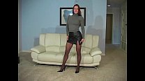 1 part - pantyhose black in teases red Victoria