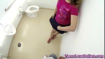 teen fucks in bathroom