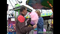 cute Chick rides tool in fun park