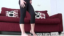 These tight yoga pants leave nothing to the ima...