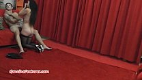 Gorgeous amateur chick gives backstage BJ to yo...