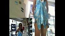 Webcam girl mastubate at work