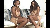 Two sexy black lesbians