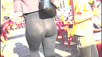 legging, transparent with street the in milf sexy Booty