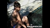 Fat Busty Girlfriend Gets Fucked Pool Side